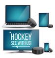 hockey application hockey puck online vector image vector image