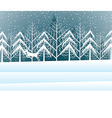 Holiday winter landscape background with winter tr vector image