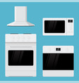 home appliances flat design kitchen range oven vector image vector image