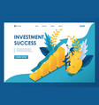isometric success investments businessmen vector image vector image