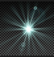 lighting spark vector image vector image