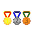 medal set with ribbon 504 vector image vector image