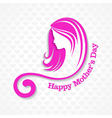 mothers day card with face with text vector image