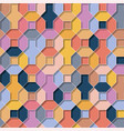 multicolor flat 3d geometrical background vector image