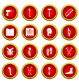 orthopedics prosthetics icon red circle set vector image