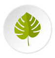palm leaf icon circle vector image vector image