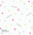 pattern sweet color geometric style background vector image vector image