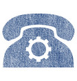 phone settings fabric textured icon vector image