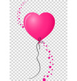 pink heart shaped helium balloon with vertical vector image