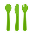 plastic cutlery isolated on white vector image vector image