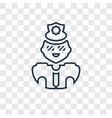 policeman concept linear icon isolated on vector image vector image