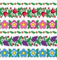 polish folk art floral design - zalipie art vector image