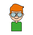 portrait man young avatar character male vector image
