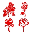 red roses sign vector image vector image