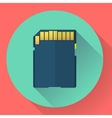 SDHC Memory card icon Flat style vector image
