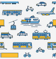 seamless pattern with transport different types vector image vector image