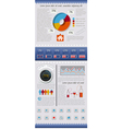 set of elements infographics and icons vector image vector image