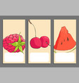set of fruits banners vector image vector image
