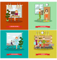 set of purchases concept posters banners vector image vector image