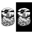 skeleton ride watermelons summer beach t shirt gr vector image vector image
