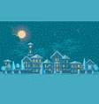 small town in winter of cute vector image vector image