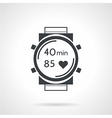 Sport watch black icon vector image