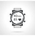 Sport watch black icon vector image vector image