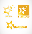 Star logo set company vector image
