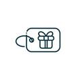 tag gift box happy christmas line icon vector image