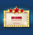 theater sign or cinema sign vector image vector image