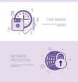 time saving and network protection template web vector image vector image