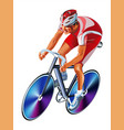 track cycling cyclist bicyclist athletes vector image