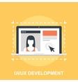 UI UX Development vector image vector image