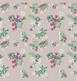 vintage flower and leaves background pattern vector image