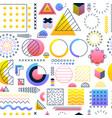 white gradient memphis seamless pattern vector image
