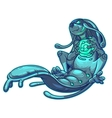 a monster water element vector image