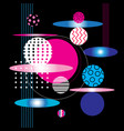 abstract background with geometric circles vector image