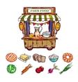 Farm Food Outdoor Shop Composition vector image