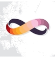 Colorful Infinity Symbol Icon Grunge Background vector image