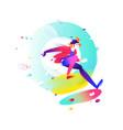 a cartoon skateboarder a skater in air image vector image