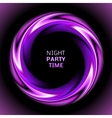 Abstract light purple swirl circle on black vector image vector image
