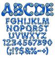 alphabet with amulet eyes fatima vector image