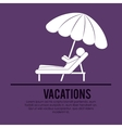 beach vacations design vector image vector image