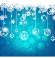 Beautiful blue happy Christmas card EPS 8 vector image vector image
