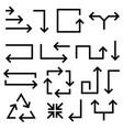 black flat arrows vector image vector image