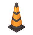 black orange cone icon isometric style vector image