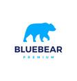 blue bear logo icon vector image