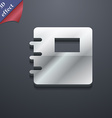 Book icon symbol 3D style Trendy modern design vector image vector image