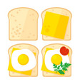 breakfast toast vector image
