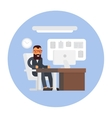 Business office Businessman at work Workplace vector image vector image